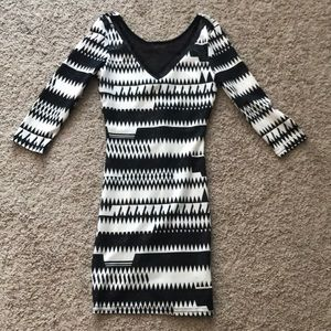 Black and White sparkly dress